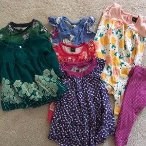 Tea collection dresses, romper and pants 9-12 mth